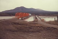 #lythgoe-alcan8 - The new and old Nisutlin Bay bridges at Teslin, ca. 1956.