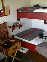 A stateroom on the restored paddlewheeler S.S. Klondike in Whitehorse, Yukon