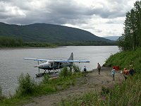 A Turbo Otter on the Stewart River.